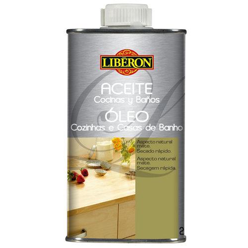 Aceite para cocinas y baños liberon incoloro 0,25l