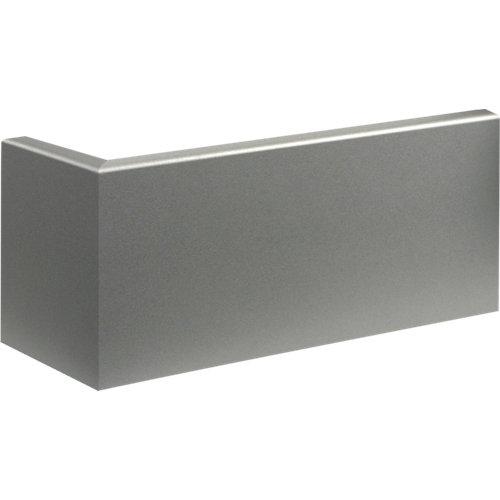 Rodapié aluminio de mdf 10 cm con pasacable