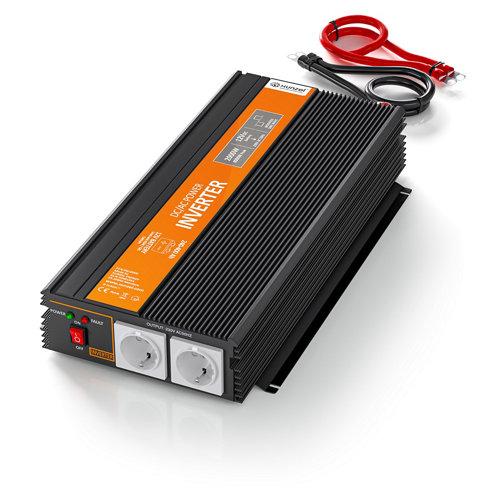 Inversor de onda modificada mj-xunzel-1000w-12v con cables incluidos