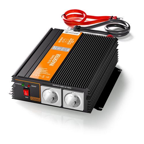 Inversor de onda modificada mj-xunzel-1200w-12v con cables incluidos