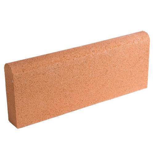 Bordillo redondo castellón 20x50 cm salmón