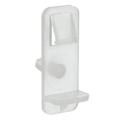 4 soportes de balda cuadrados de plástico