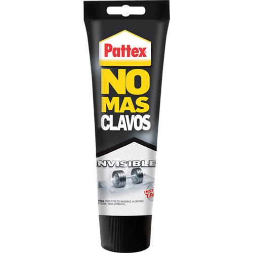 Adhesivo de montaje pattex no más clavos invisible 200 gr