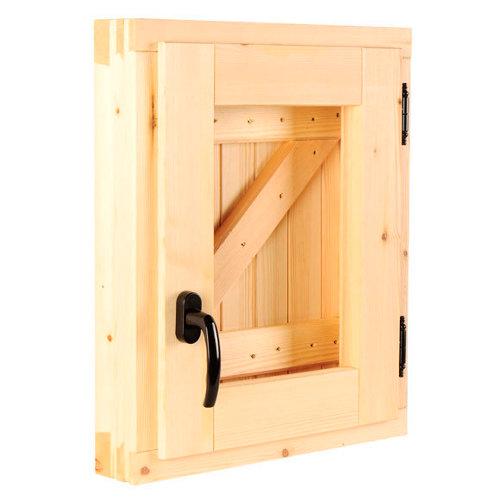 Ventana de madera practicable de 50x60 cm