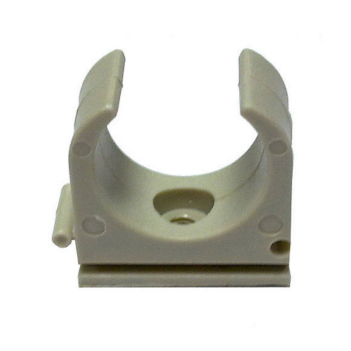 Bolsa de 10 grapas clip grises para tubo de 20 mm