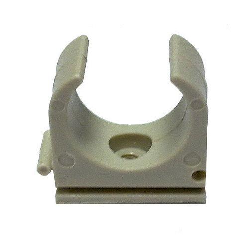 Bolsa de 10 grapas clip grises para tubo de 32 mm
