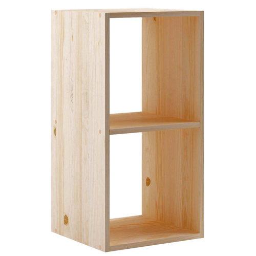 Estantería de madera en kit dinamic de 36,2x70,8x33 cm y 50 kg max, por balda