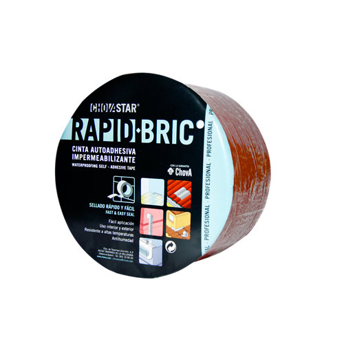 Rollo cinta asfáltica rapid-bric 0,30x12 m rojo teja