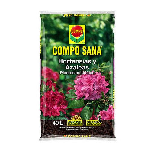 Sustrato para hortensias y azaleas compo sana para plantas acidófilas 40l