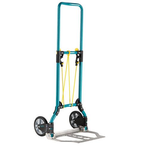 Carretilla plegable con ruedas macizas y 70 kg de carga máxima