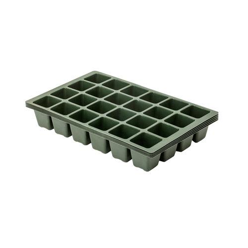 Kit de semillero de polipropileno de 5 alveolos 36x6.5x22.4 cm