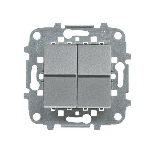 Interruptor doble niessen zenit plata