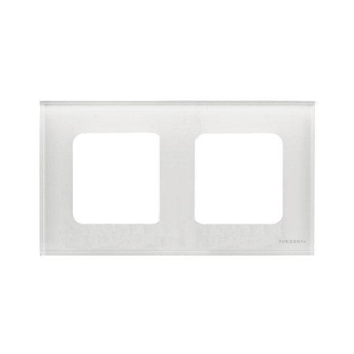 Marco doble niessen zenit cristal blanco