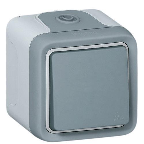 Interruptor legrand plexo gris ip55