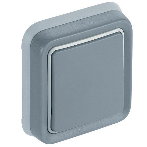 Interruptor de empotrar legrand plexo gris