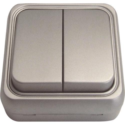 Interruptor doble fontini bf-18 aluminio