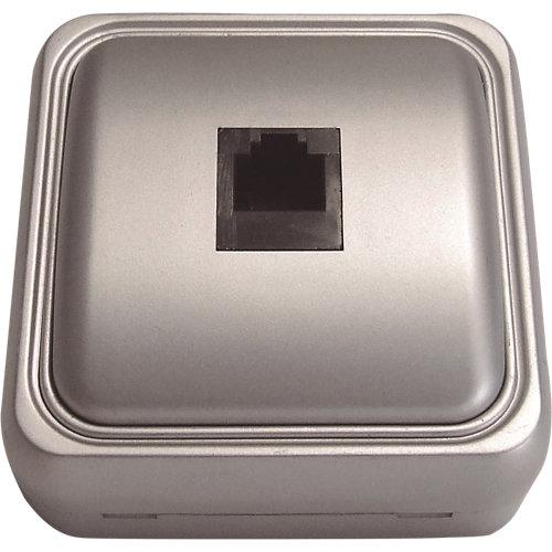 Toma de teléfono fontini bf-18 aluminio