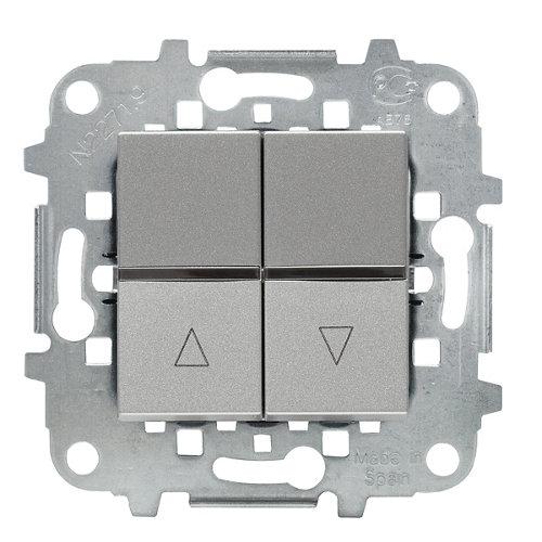 Interruptor de persianas niessen zenit plata