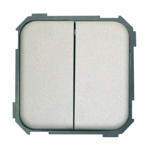 Interruptor doble simon 31 aluminio