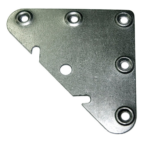 2 soportes para atornillar de 6,5x0,2x6,5 cm