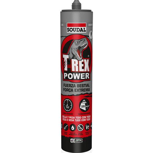 Adhesivo sellador t-rex power gris 290ml