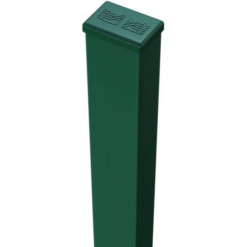 Poste de acero galvanizado plastificado verde de 40mm y 85 cm
