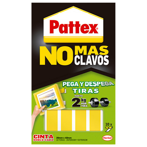 Cinta doble cara precortada pattex removible