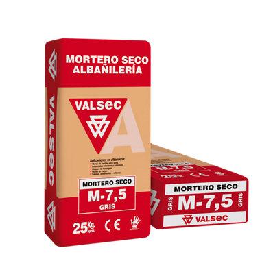 Mortero seco VALSEC M-7,5 gris 25 kg