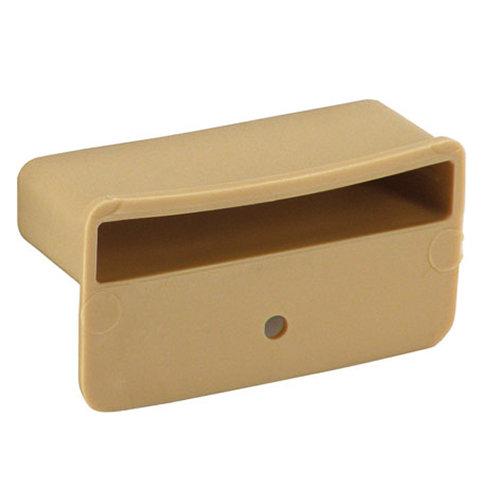 Pack de topes para clavar de plástico rectangulares de 53 x 8mm