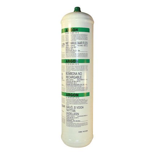 Botella de gas de argón sin marca ce-gasargonplus de 0.95 litros