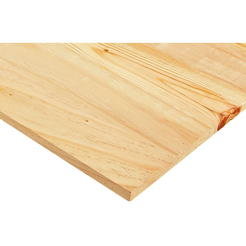Tablero macizo de pino de 18mm de espesor y 50x200cm