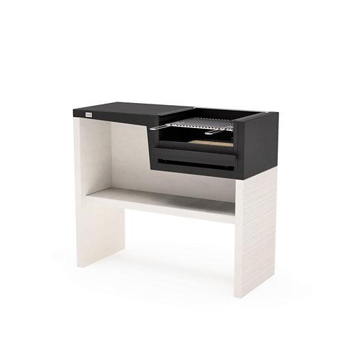 Barbacoa de hormigón folded plan 93x118x50 cm de 260 kg