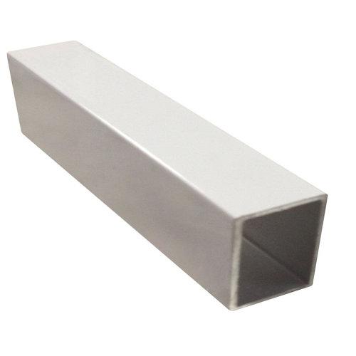 Perfil forma cuadrado de aluminio epoxi lacado