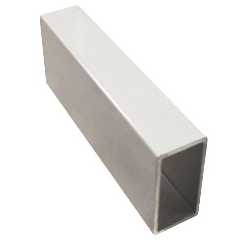 Perfil forma rectangular de aluminio epoxi lacado