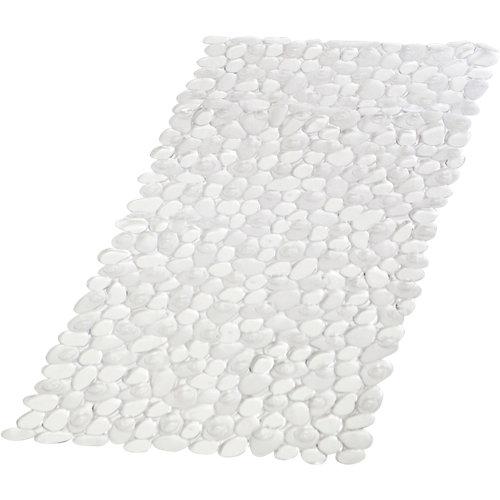 Alfombra antideslizante pvc petra transparente 35x70 cm
