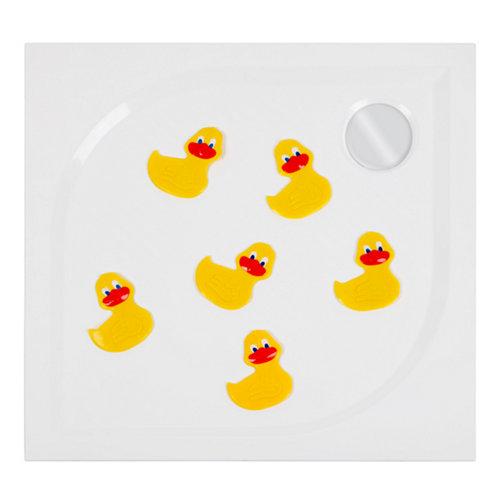Figuras antideslizantes pvc pato nut amarillo 13x12 cm