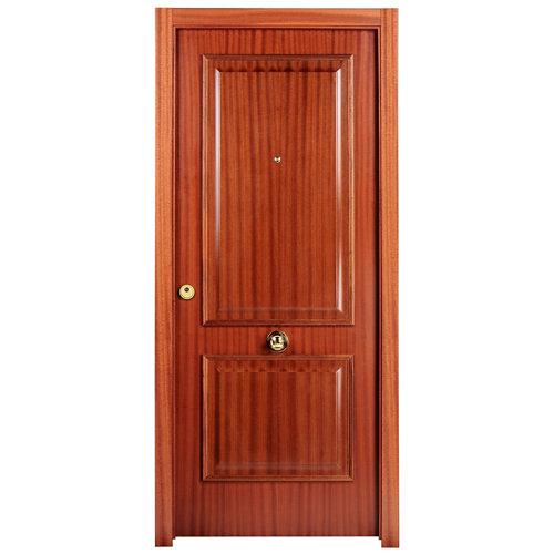 Puerta de entrada blindada 2 cuadros derecha sapelly de 85.7x205 cm