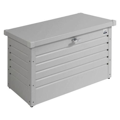 Arcón de exterior de acero ocio 130 plata 134x71x62 cm