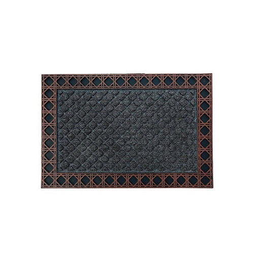 Felpudo negro de polipropileno 50 x75 cm