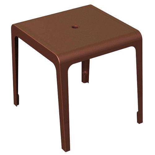 Mesa de jardín de comedor de resina valencia marrón de 70x75x70 cm