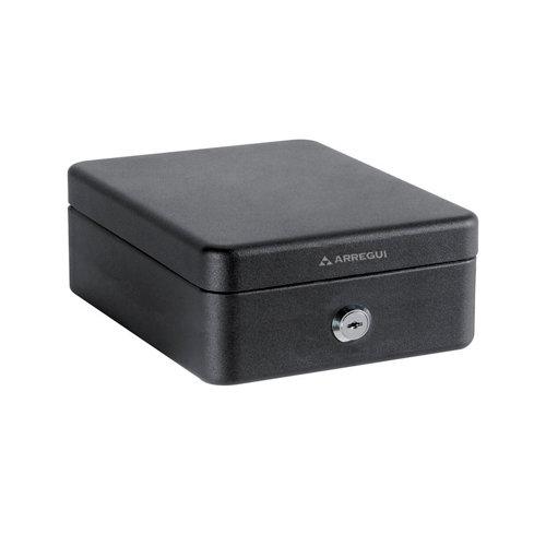 Caja de caudales en acero negro de 15x9.5x20.3 cm