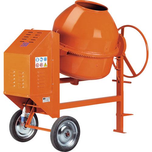 Hormigonera eléctrica altrad de 1100 w y 220l naranja