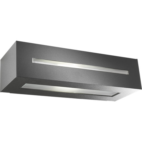 Aplique de exterior de aluminio gris forlight alfil rectangular