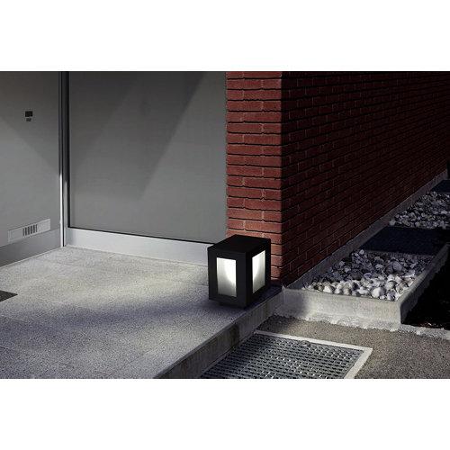 Aplique exterior de aluminio gris forlight alfil cuadrado e-27