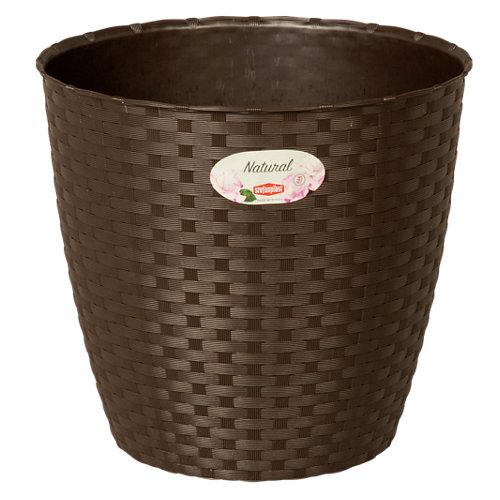Embellecedor para macetas de resina herstera garden marrón 24x22 cm