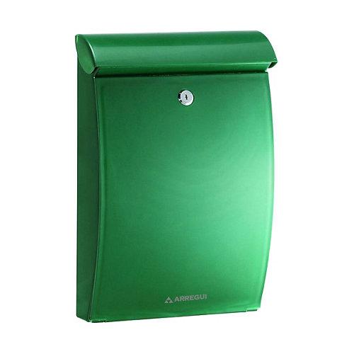 Buzón de plástico en verde de 35x25x10 cm