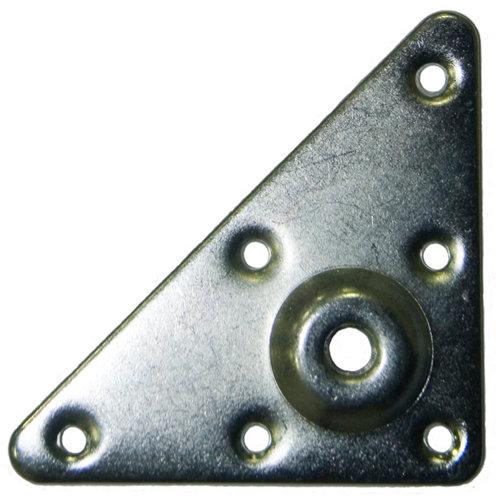 2 placa para pata en acero de 90x90 mm y carga max. de 30 kg