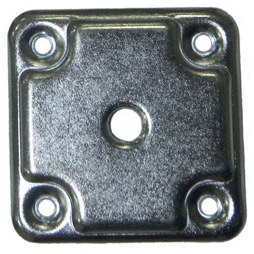 2 placa para pata en acero de 60x60 mm y carga max. de 30 kg