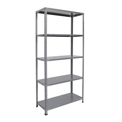 Estantería metálica 180x90x40cm gris con tornillos 5b.80kg