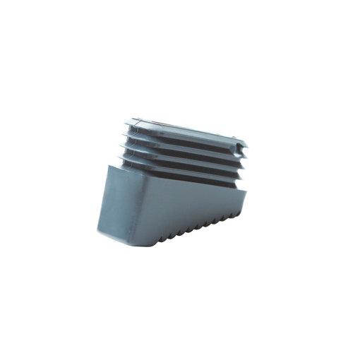 2 contera de plástico rectangulares de 20 x 50 mm